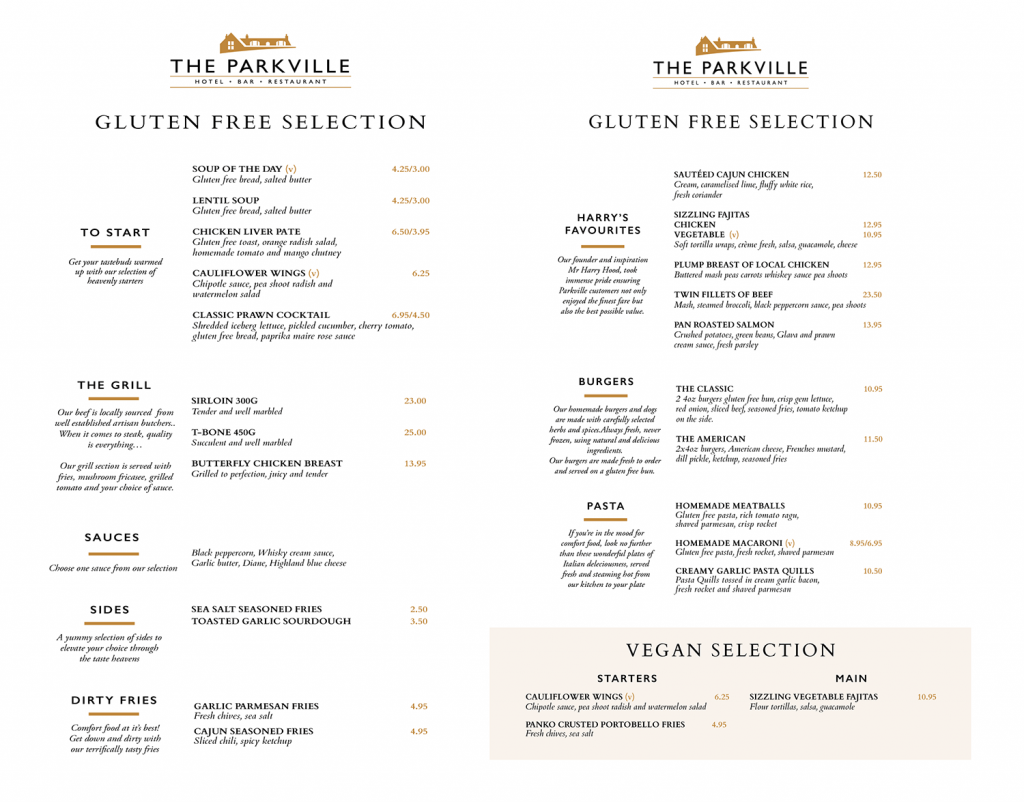 Parkville Hotel Blantyre Lanarkshire Restaurant Vegan Gluten Free Booking Blantyre